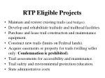 rtp eligible projects