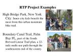 rtp project examples