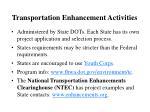 transportation enhancement activities1