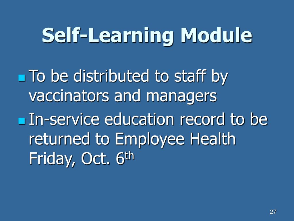 Self-Learning Module