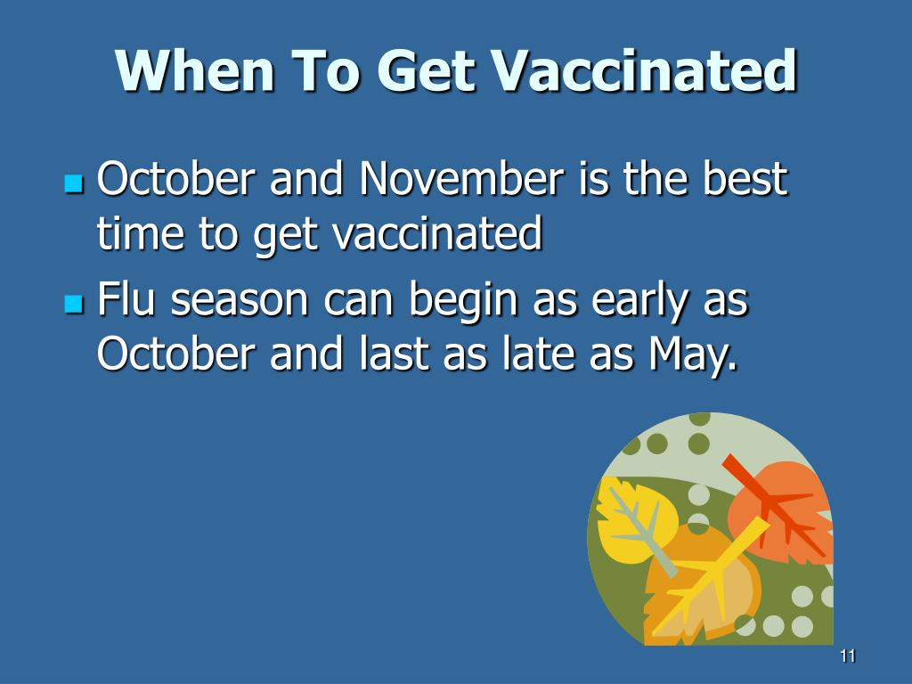 When To Get Vaccinated