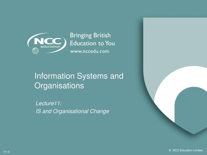 Information systems and organisations