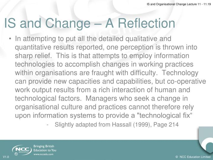 IS and Change – A Reflection