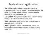 payday loan legitimation