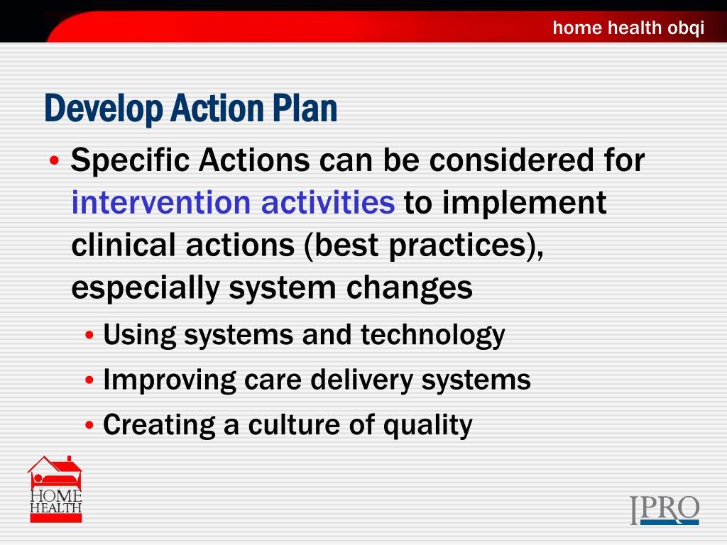 Develop Action Plan