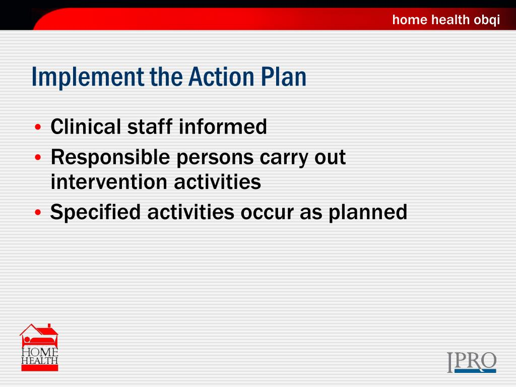 Implement the Action Plan