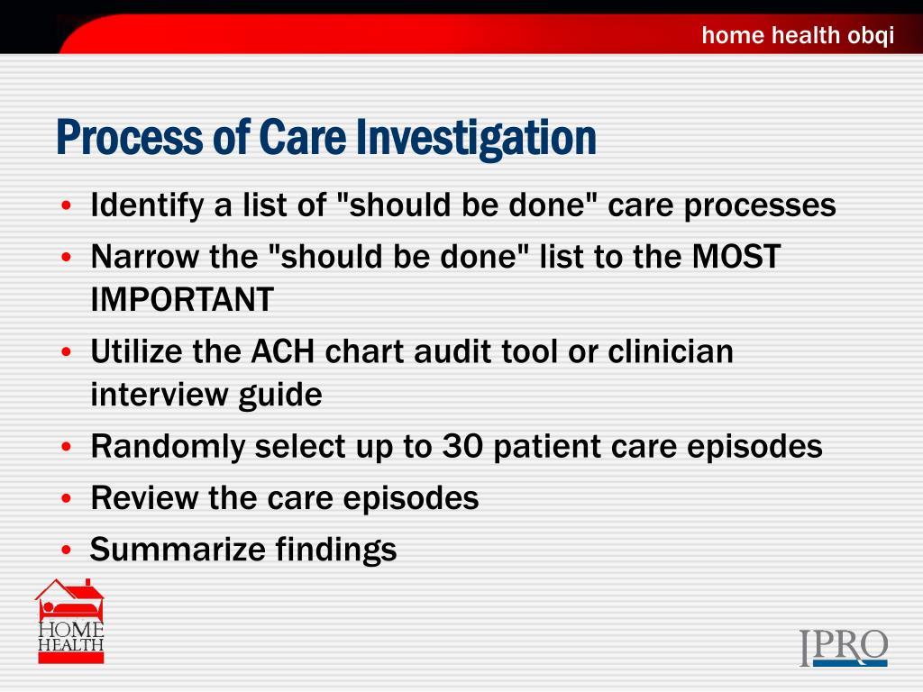 Process of Care Investigation