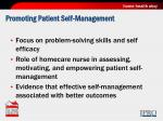 promoting patient self management