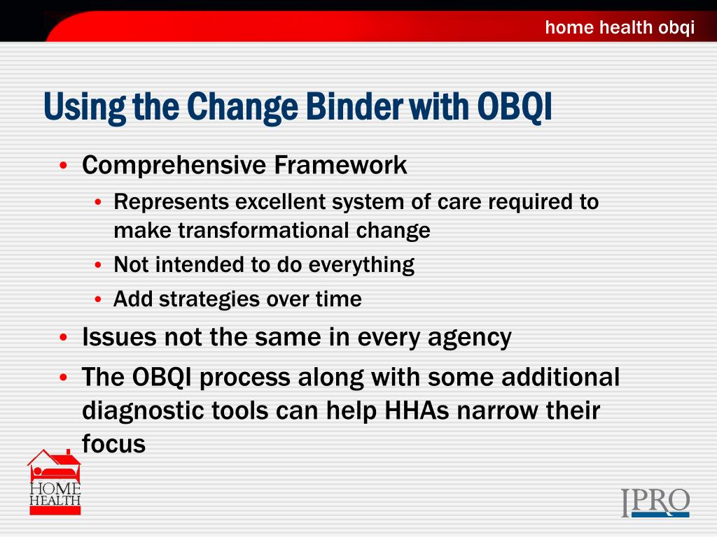 Using the Change Binder with OBQI