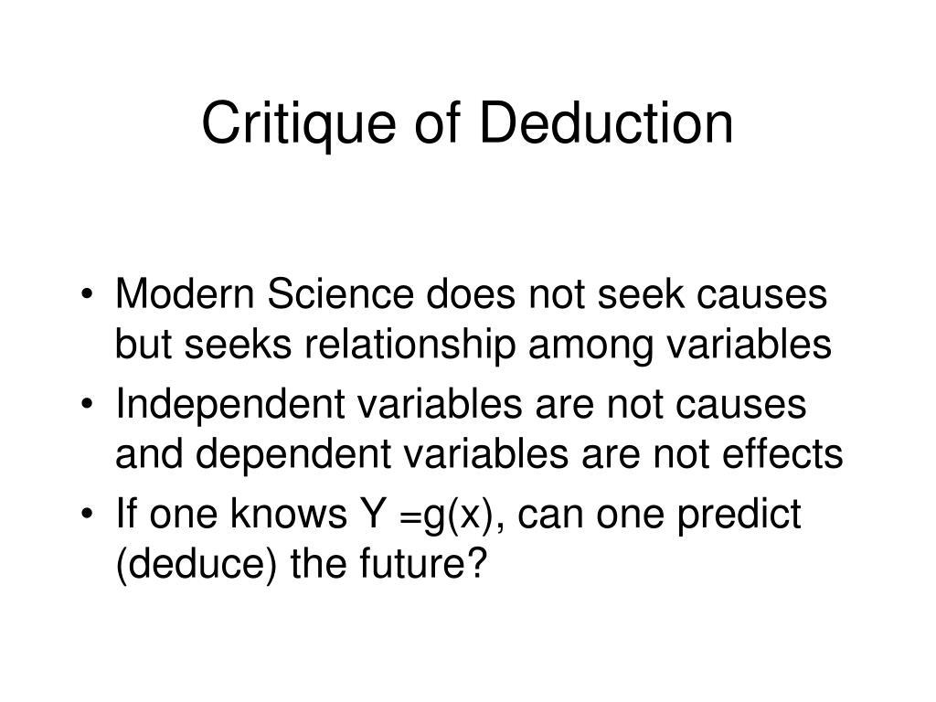 Critique of Deduction