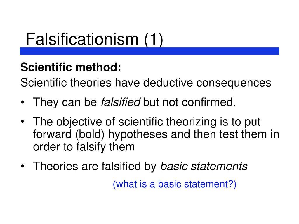 Falsificationism (1)