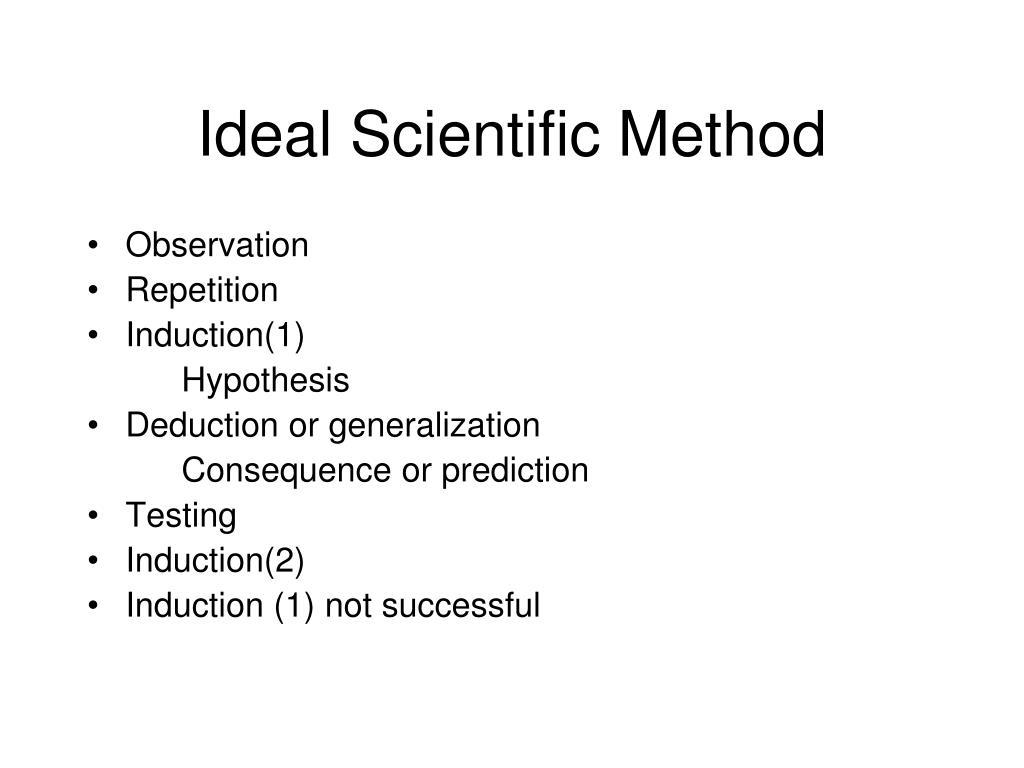 Ideal Scientific Method