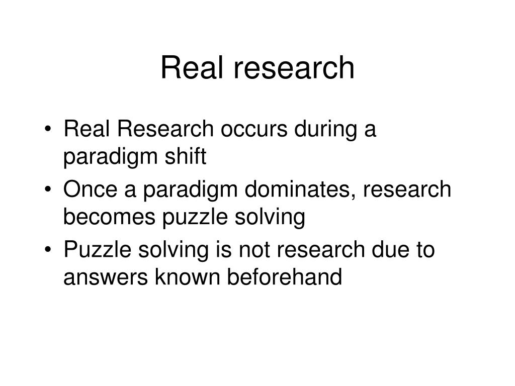 Real research