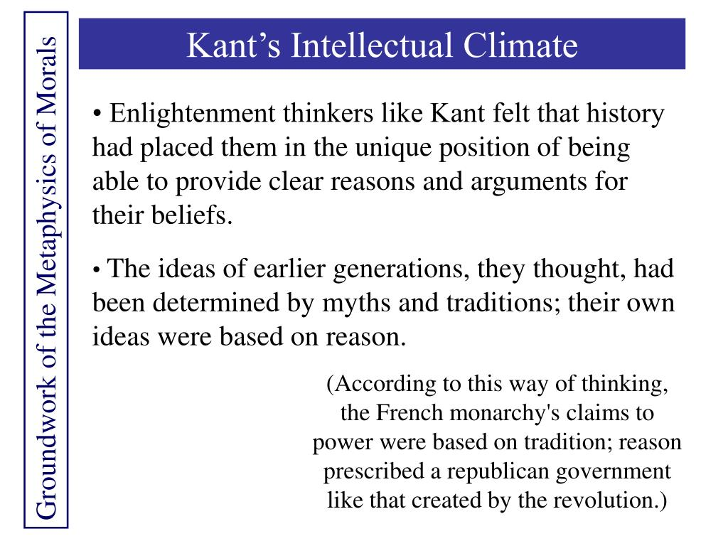 Kant's Intellectual Climate