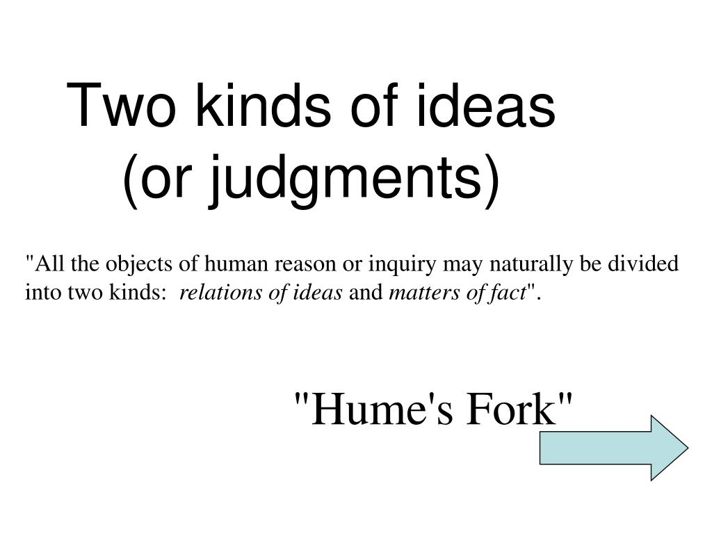 Two kinds of ideas
