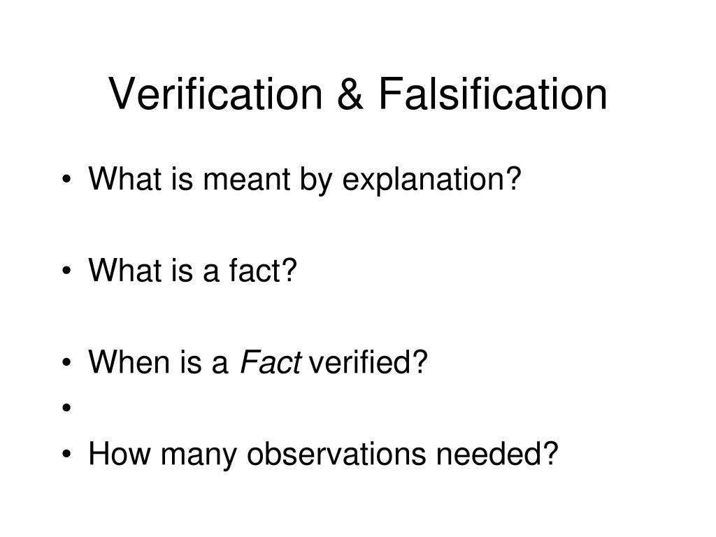 Verification & Falsification