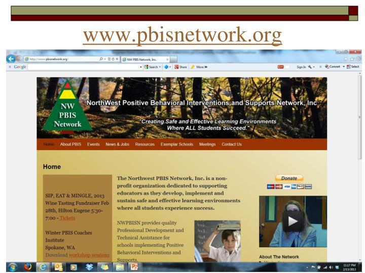 Www pbisnetwork org
