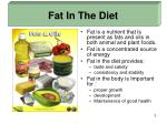 fat in the diet