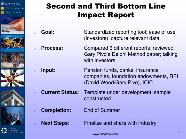 Second and Third Bottom Line