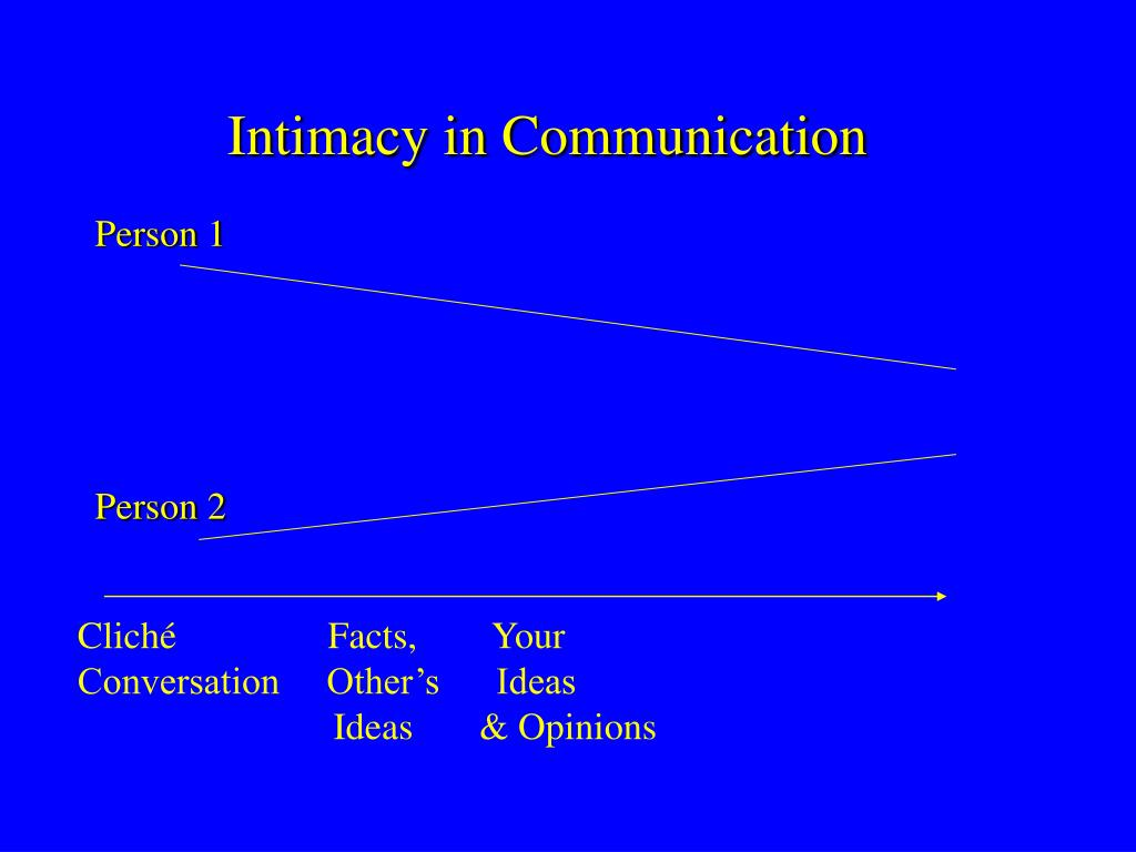 Intimacy in Communication