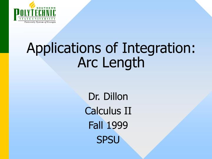 applications of integration arc length