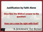 justification by faith alone