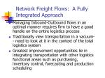 network freight flows a fully integrated approach