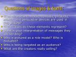 questions of images texts