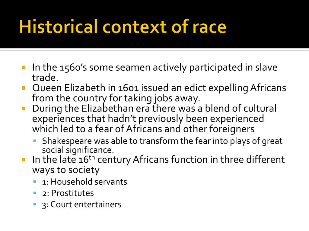 Historical context of race