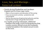 love sex and marriage historical context
