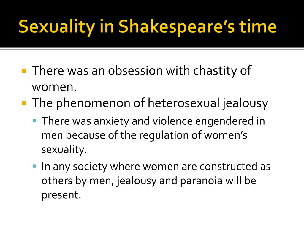 Sexuality in Shakespeare's time