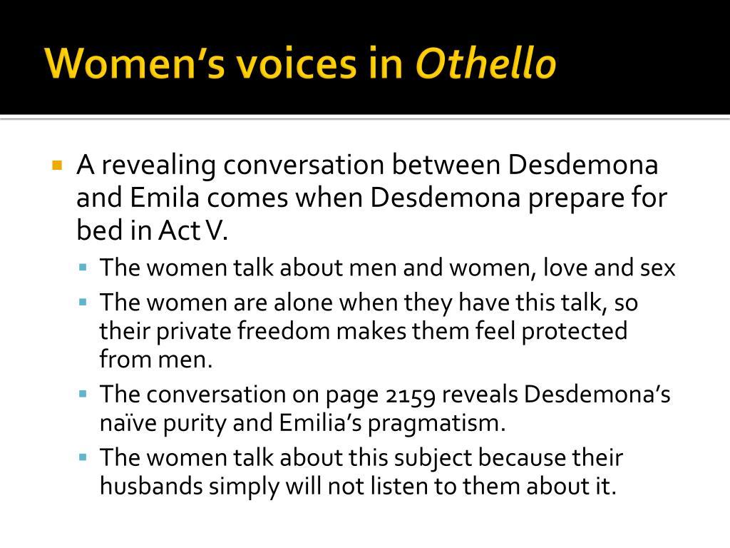 Women's voices in