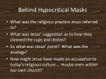 behind hypocritical masks12