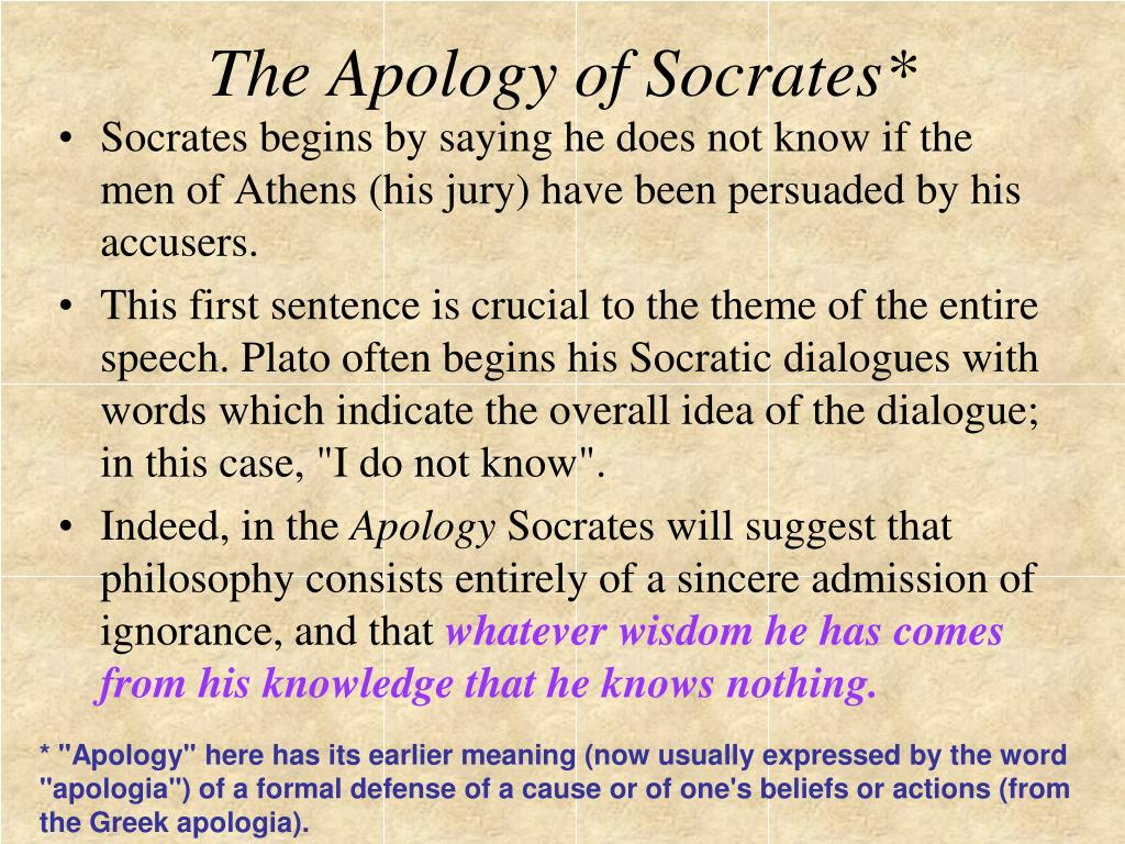 The Apology of Socrates*