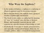 who were the sophists