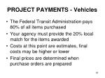 project payments vehicles