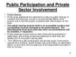 public participation and private sector involvement24