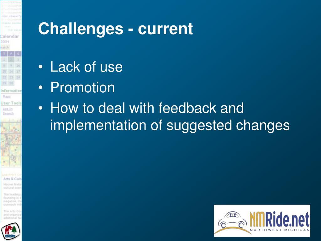 Challenges - current