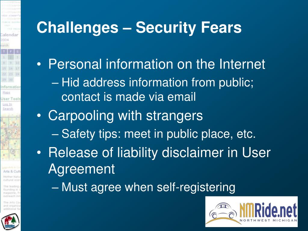 Challenges – Security Fears