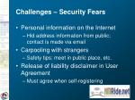 challenges security fears