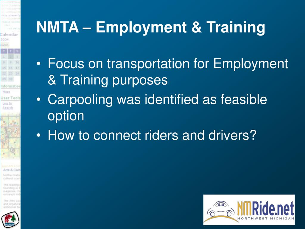 NMTA – Employment & Training