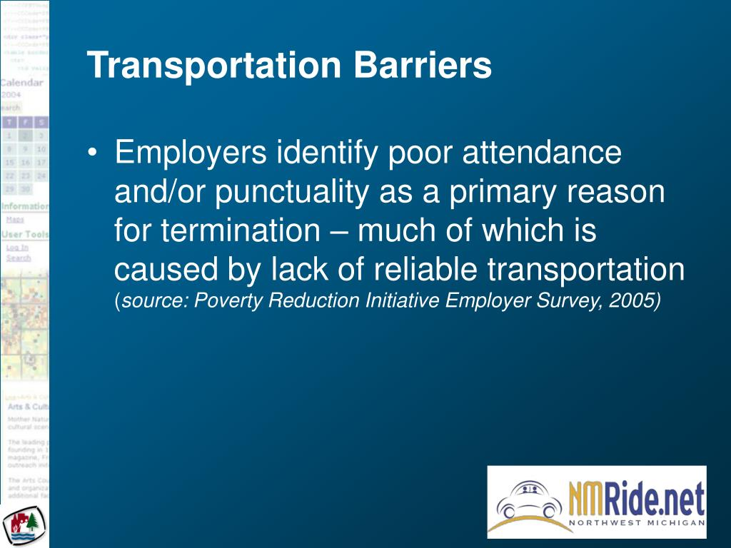 Transportation Barriers