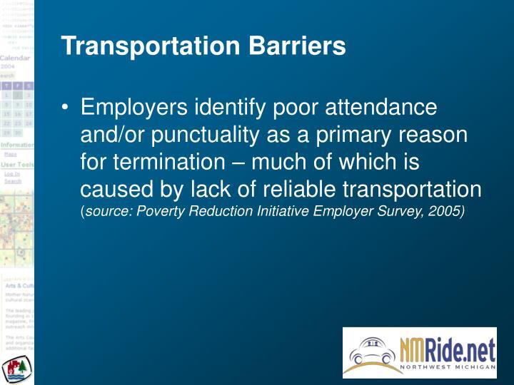 Transportation barriers3