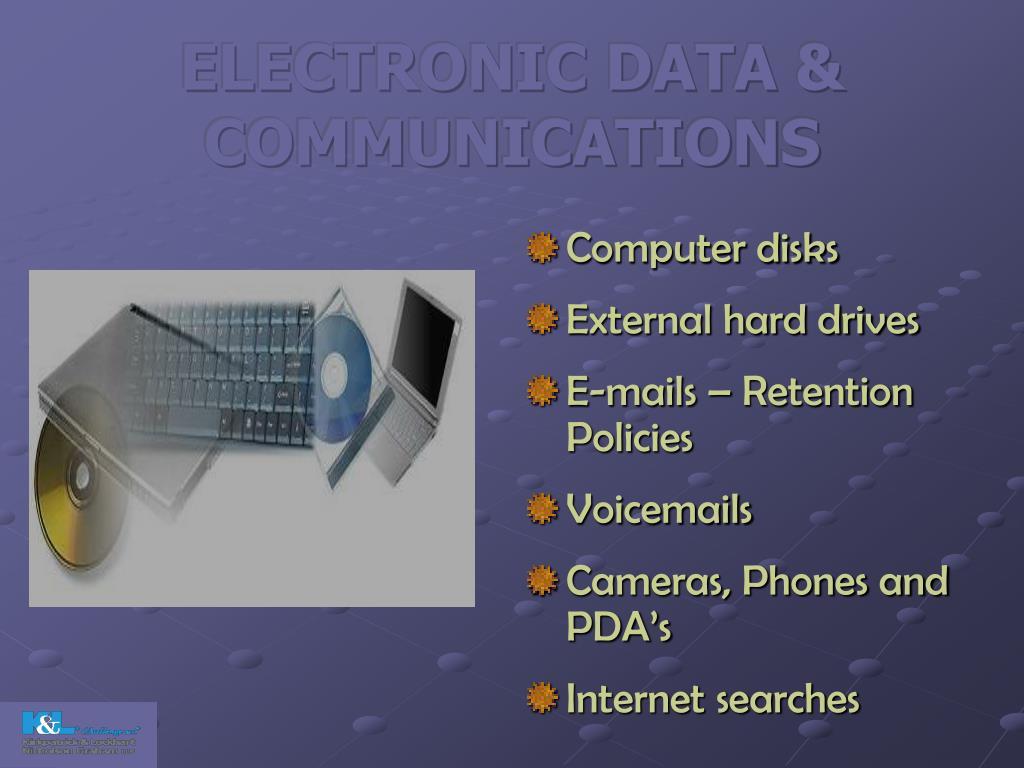 ELECTRONIC DATA & COMMUNICATIONS