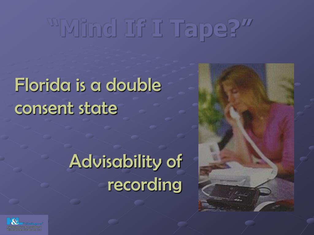 """Mind If I Tape?"""