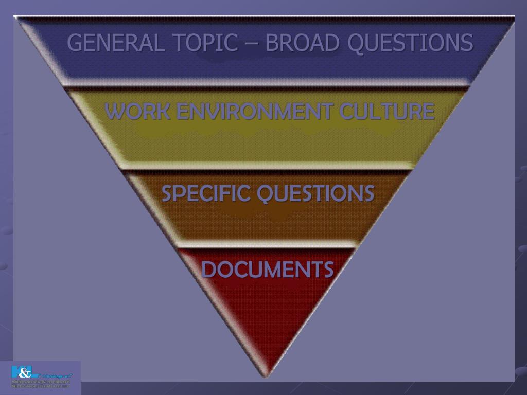 GENERAL TOPIC – BROAD QUESTIONS