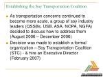 establishing the soy transportation coalition