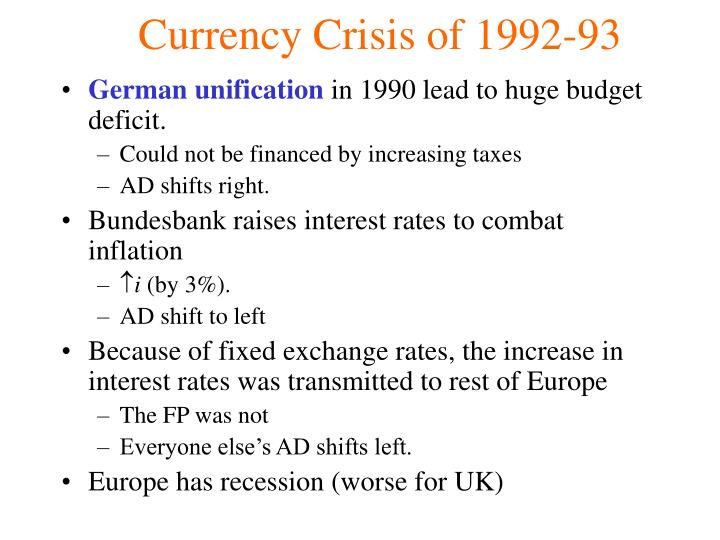 Currency Crisis of 1992-93