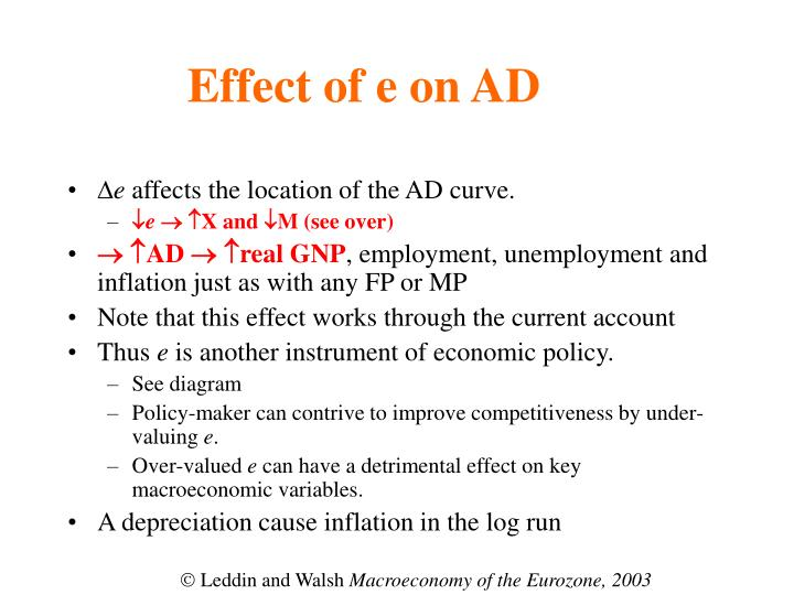 Effect of e on AD