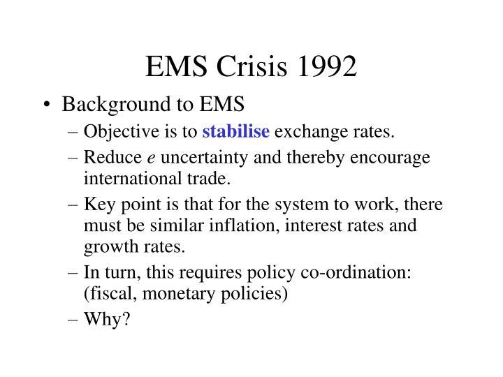 EMS Crisis 1992